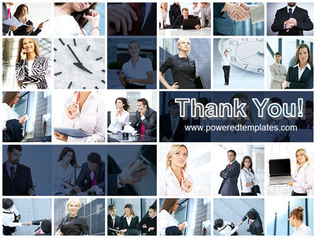 Office Life Collage PowerPoint Template Slide 20