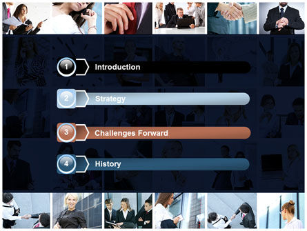 Office Life Collage PowerPoint Template Slide 3