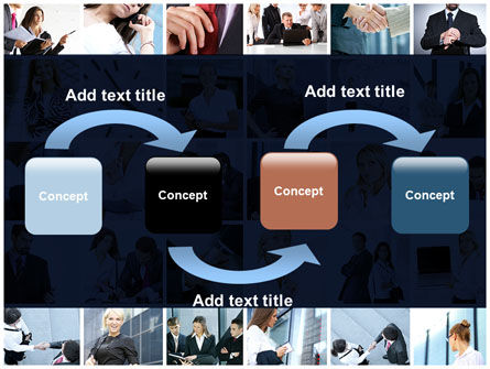 Office Life Collage PowerPoint Template Slide 4