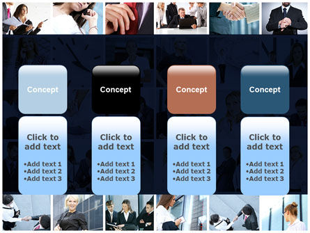 Office Life Collage PowerPoint Template Slide 5