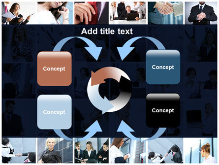 Office Life Collage PowerPoint Template Slide 6