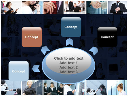 Office Life Collage PowerPoint Template Slide 7