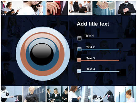 Office Life Collage PowerPoint Template Slide 9