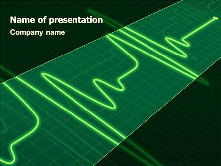 Splashes On Oscillogram PowerPoint Template, 07545, Medical — PoweredTemplate.com