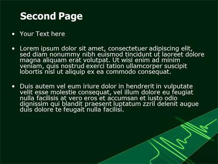 Splashes On Oscillogram PowerPoint Template, Slide 2, 07545, Medical — PoweredTemplate.com