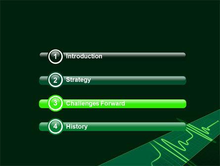 Splashes On Oscillogram PowerPoint Template, Slide 3, 07545, Medical — PoweredTemplate.com
