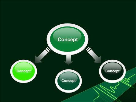 Splashes On Oscillogram PowerPoint Template, Slide 4, 07545, Medical — PoweredTemplate.com