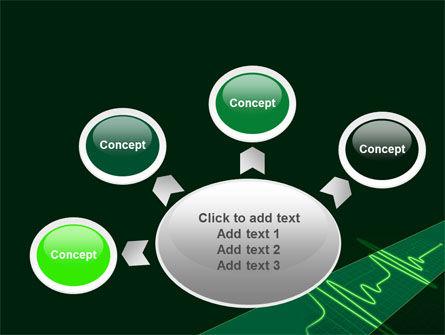 Splashes On Oscillogram PowerPoint Template Slide 7