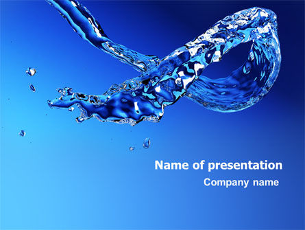 Nature & Environment: Blue Water PowerPoint Template #07546