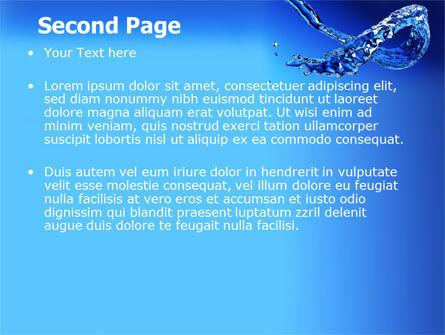 Blue Water PowerPoint Template, Slide 2, 07546, Nature & Environment — PoweredTemplate.com