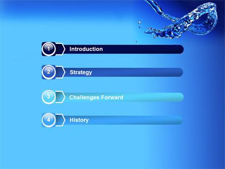Blue Water PowerPoint Template, Slide 3, 07546, Nature & Environment — PoweredTemplate.com