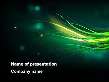 Abstract/Textures: Green Yellow Stripes Free PowerPoint Template #07550