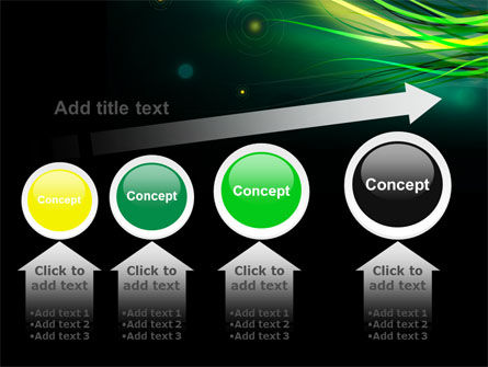 Green Yellow Stripes Free PowerPoint Template Slide 13