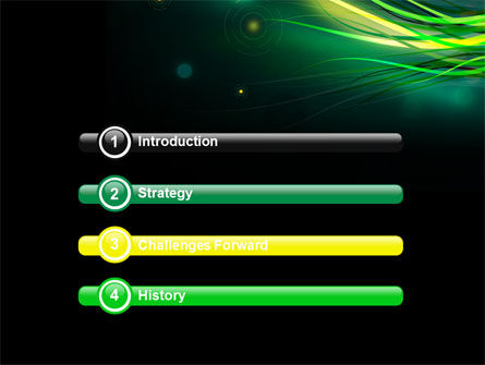 Green Yellow Stripes Free PowerPoint Template Slide 3