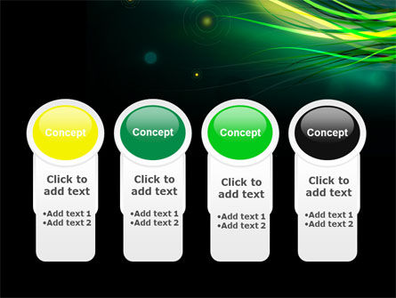 Green Yellow Stripes Free PowerPoint Template Slide 5