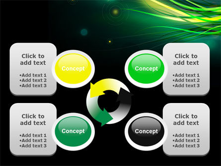 Green Yellow Stripes Free PowerPoint Template Slide 9