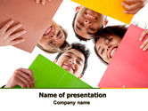 Careers/Industry: Students Team PowerPoint Template #07551