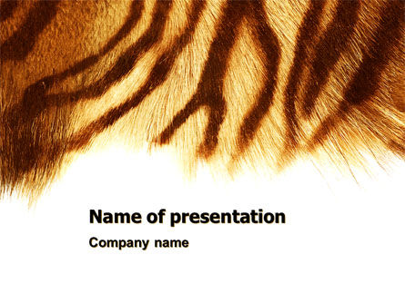 Animals and Pets: Tiger Skin PowerPoint Template #07552