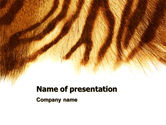 Animals and Pets: Tiger Huid PowerPoint Template #07552