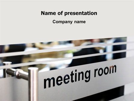 Meeting Room PowerPoint Template, 07553, Business — PoweredTemplate.com