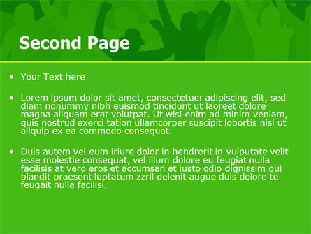 Soccer Fan PowerPoint Template, Slide 2, 07555, Sports — PoweredTemplate.com