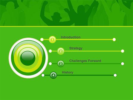 Soccer Fan PowerPoint Template, Slide 3, 07555, Sports — PoweredTemplate.com