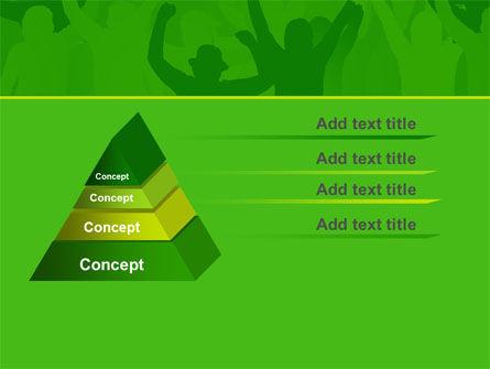Soccer Fan PowerPoint Template, Slide 4, 07555, Sports — PoweredTemplate.com