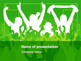 Sports: Soccer Fan PowerPoint Template #07555