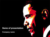 People: Barack Obama PowerPoint Template #07556