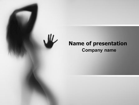 Medical: Nude Girl PowerPoint Template #07557