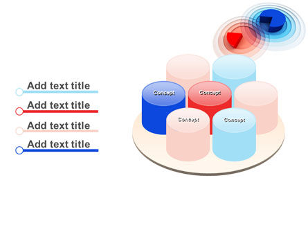 3D Pie Red Blue Colored Diagram PowerPoint Template Slide 12
