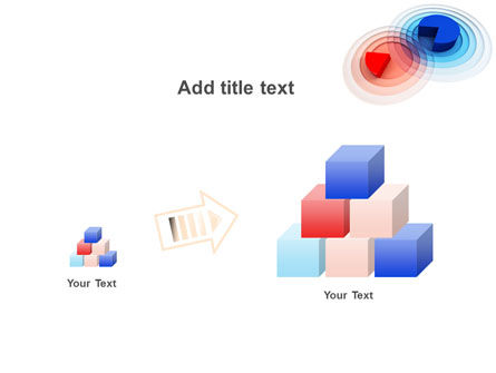 3D Pie Red Blue Colored Diagram PowerPoint Template Slide 13