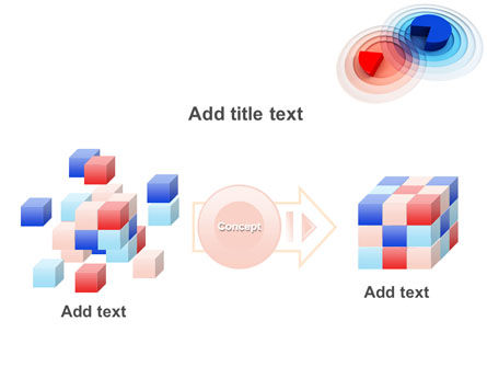 3D Pie Red Blue Colored Diagram PowerPoint Template Slide 17