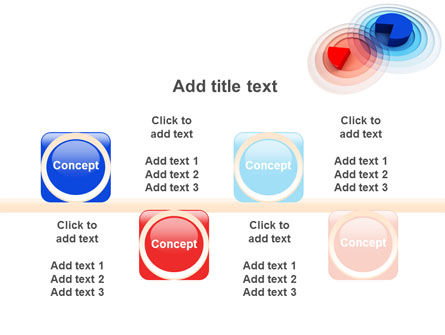 3D Pie Red Blue Colored Diagram PowerPoint Template Slide 18