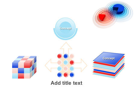 3D Pie Red Blue Colored Diagram PowerPoint Template Slide 19