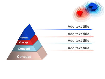 3D Pie Red Blue Colored Diagram PowerPoint Template Slide 4
