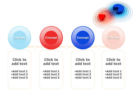 3D Pie Red Blue Colored Diagram PowerPoint Template Slide 5