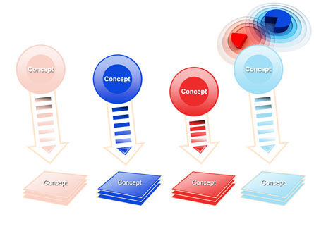 3D Pie Red Blue Colored Diagram PowerPoint Template Slide 8
