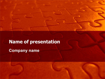Puzzle Field PowerPoint Template, 07559, Consulting — PoweredTemplate.com