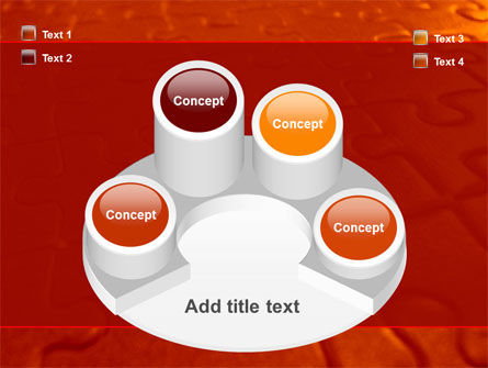 Puzzle Field PowerPoint Template Slide 12