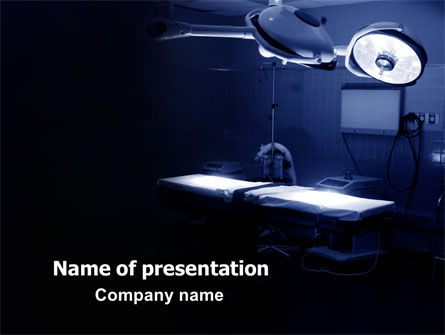 Operation Room In Dark Blue PowerPoint Template, 07560, Medical — PoweredTemplate.com