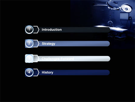 Operation Room In Dark Blue PowerPoint Template, Slide 3, 07560, Medical — PoweredTemplate.com