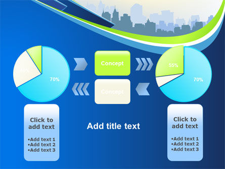 Blue Cityscape PowerPoint Template Slide 11