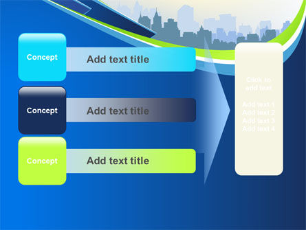 Blue Cityscape PowerPoint Template Slide 12