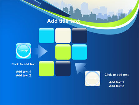 Blue Cityscape PowerPoint Template Slide 16
