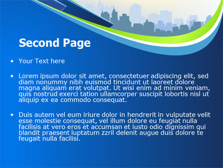 Blue Cityscape PowerPoint Template Slide 2
