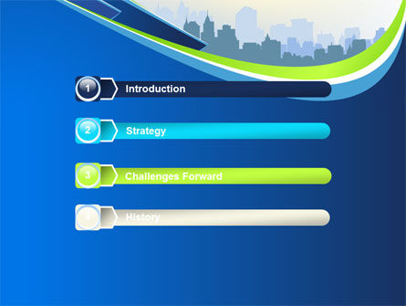 Blue Cityscape PowerPoint Template Slide 3