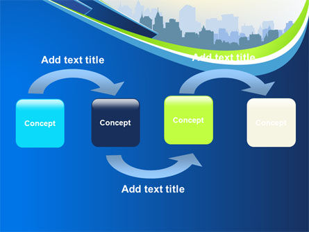 Blue Cityscape PowerPoint Template Slide 4