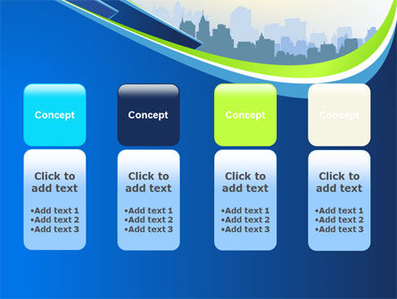 Blue Cityscape PowerPoint Template Slide 5