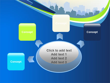 Blue Cityscape PowerPoint Template Slide 7